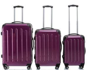 Lila Koffer geordnet Hartschalenkoffer