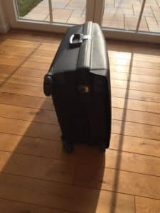 Liegender, schwarzer Samsonite Aeris Upright