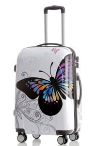 BEIBYE koffer mit Schmetterlingsmotiv
