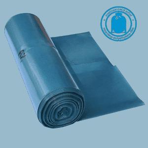 Blaue Müllbeutel