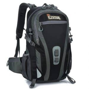 ICOME 40L + 5L Outdoor Rucksack, wasserdichter Wanderrucksack, Camping Reisegepäck Trekkingrucksack