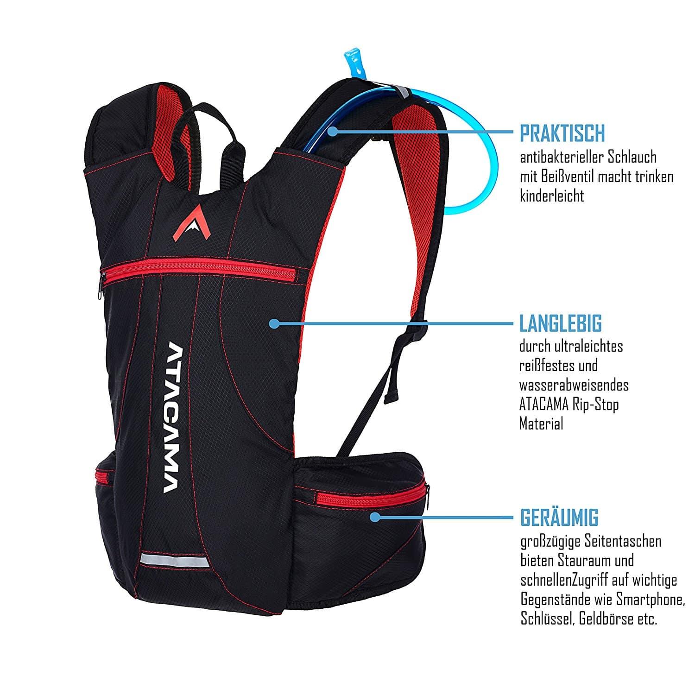 Erklärung und Features des ATACAMA Trinkrucksack 2 L