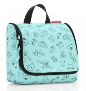 Blaue Reisenthel Kulturtasche mit Tiermotiven