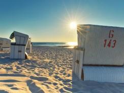 Der Transport eines Strandkorbes